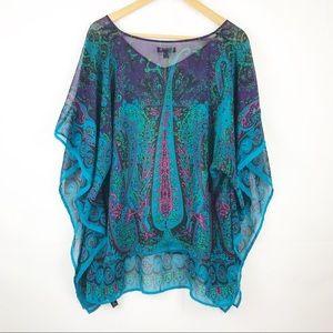 Lane Bryant Colorful Light and Sheer Blouse